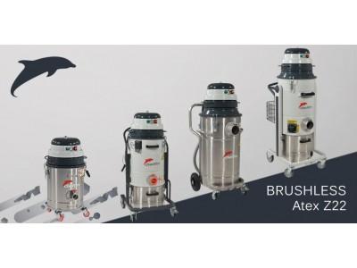 Dòng máy hút bụi BRUSHLESS mới không dùng chổi than, chứng nhận ATEX