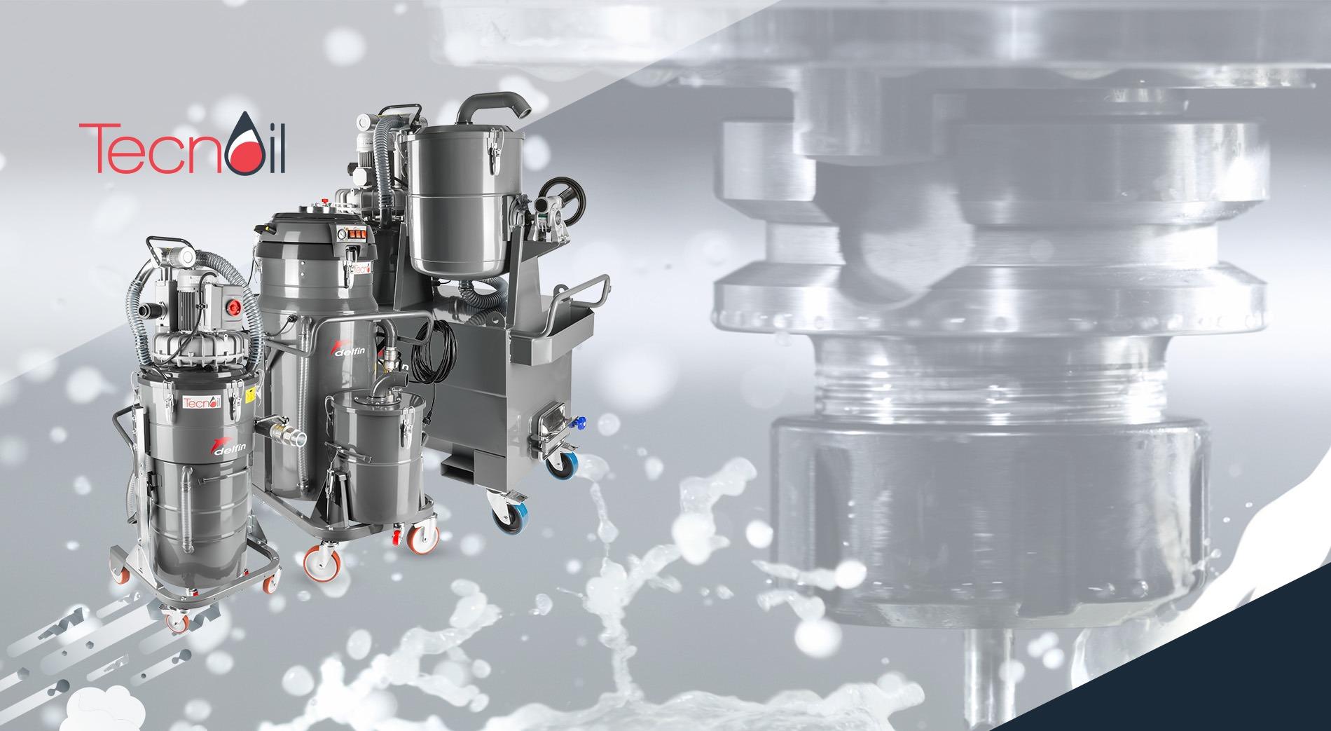 Máy hút bụi công nghiệp xử lí dầu và mạt kim loại Tecnoil